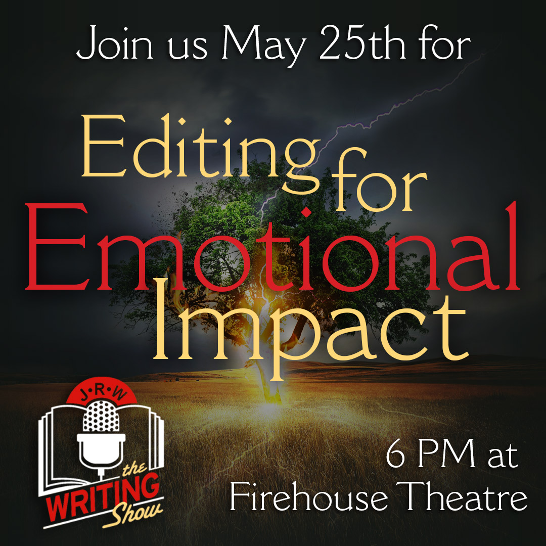 Editing for Emotional Impact graphic - a lightning bolt hitting a tree