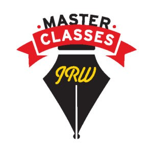 Master class logo with quill pen