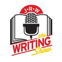 The Writing Show Logo with a mircophone superimposed over a book