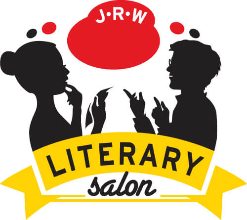 Literary Salon Logo - two people talking with each other