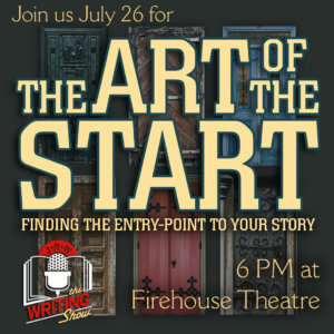 The Art of the Start graphic - TWS - July 17 - Five wooden doors