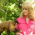 Kelly Lambert feeding monkey